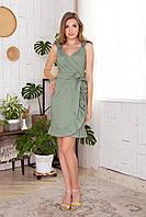 Сарафан в горошек хлопковый женственный красивый Sylvia разные цвета 44, 46, 48, 50 Хаки