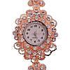 Кварцевые часы SONATA, белые фианиты, позолота РО, 95996                         (1), фото 2