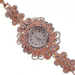Кварцові годинники SONATA, білі фіаніти, позолота РВ, 95996 (1)
