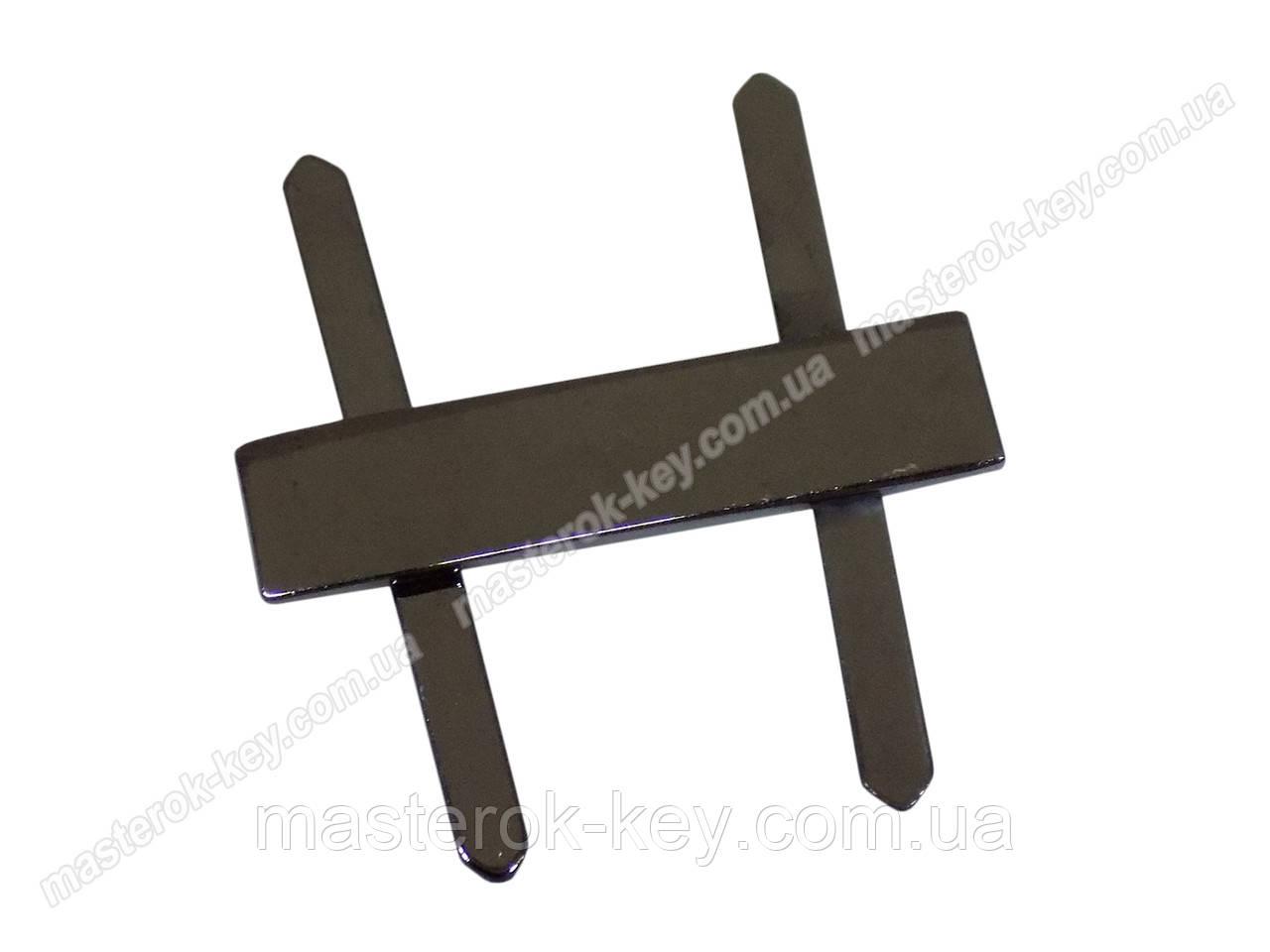 Пластинка декоративная №39077 темный никель
