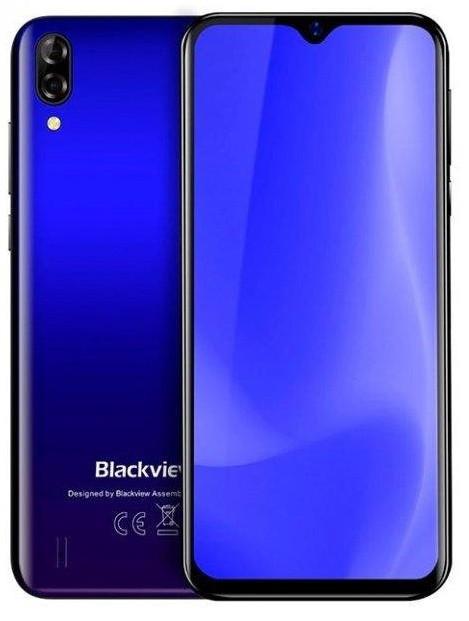 Смартфон с двойной камерой и батареей большой емкости на 2 сим карты Blackview A60 blue 1/16 гб