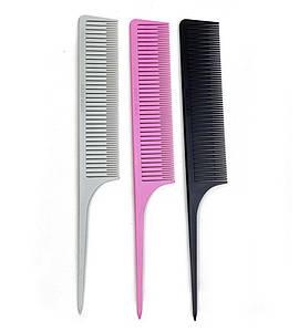 Набор расчёсок для микро мелирования VIEW KEEP розовая + серая + черная
