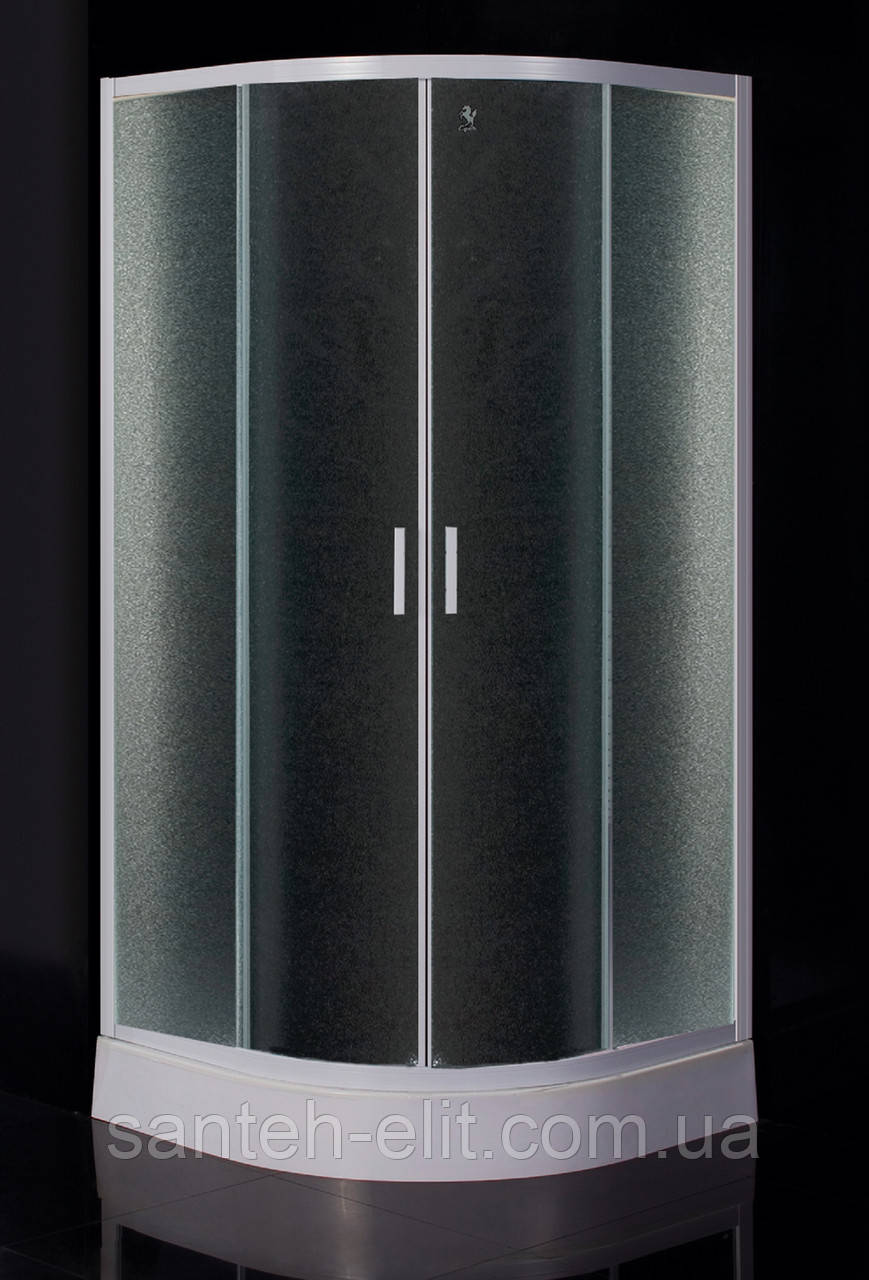 "Eger TISZA душевая кабина 90x90x185 см (стекла+двери), профиль белый, стекло ""Zuzmara"""