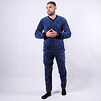"""Мужская махровая синяя пижама """"Night"""" р.52-56"""