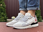 Чоловічі кросівки Adidas Nite Jogger Boost 3M (білі) 9437, фото 3