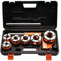 Набор плашек для нарезки резьбы (клупп) 9 предметов профессиональный Harden Tools 600871
