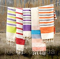 Пляжные полотенце Лен 100/180 см Турецкое (Подстилка для пляжа)