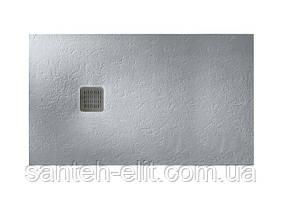 Roca TERRAN поддон 120x80см ультраплоский, искусственныйкамень Stonex, с сифоном, цвет цемент (AP014B03200130