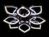 Светодиодная люстра с диммером и LED подсветкой, цвет чёрный хром, 145W, фото 3