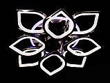 Светодиодная люстра с диммером и LED подсветкой, цвет чёрный хром, 145W, фото 4