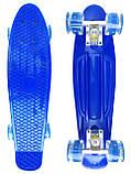 Скейт Penny Board, із широкими світлими колесами Пенні борд, дитячий , від 4 років, Колір Синій, фото 2