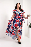 """Красивое платье в пол """"Гайтана"""" размеры 50,52 маки"""