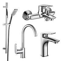 Набор смесителей Imprese PL (4 в 1) для ванны и кухни (51003055)