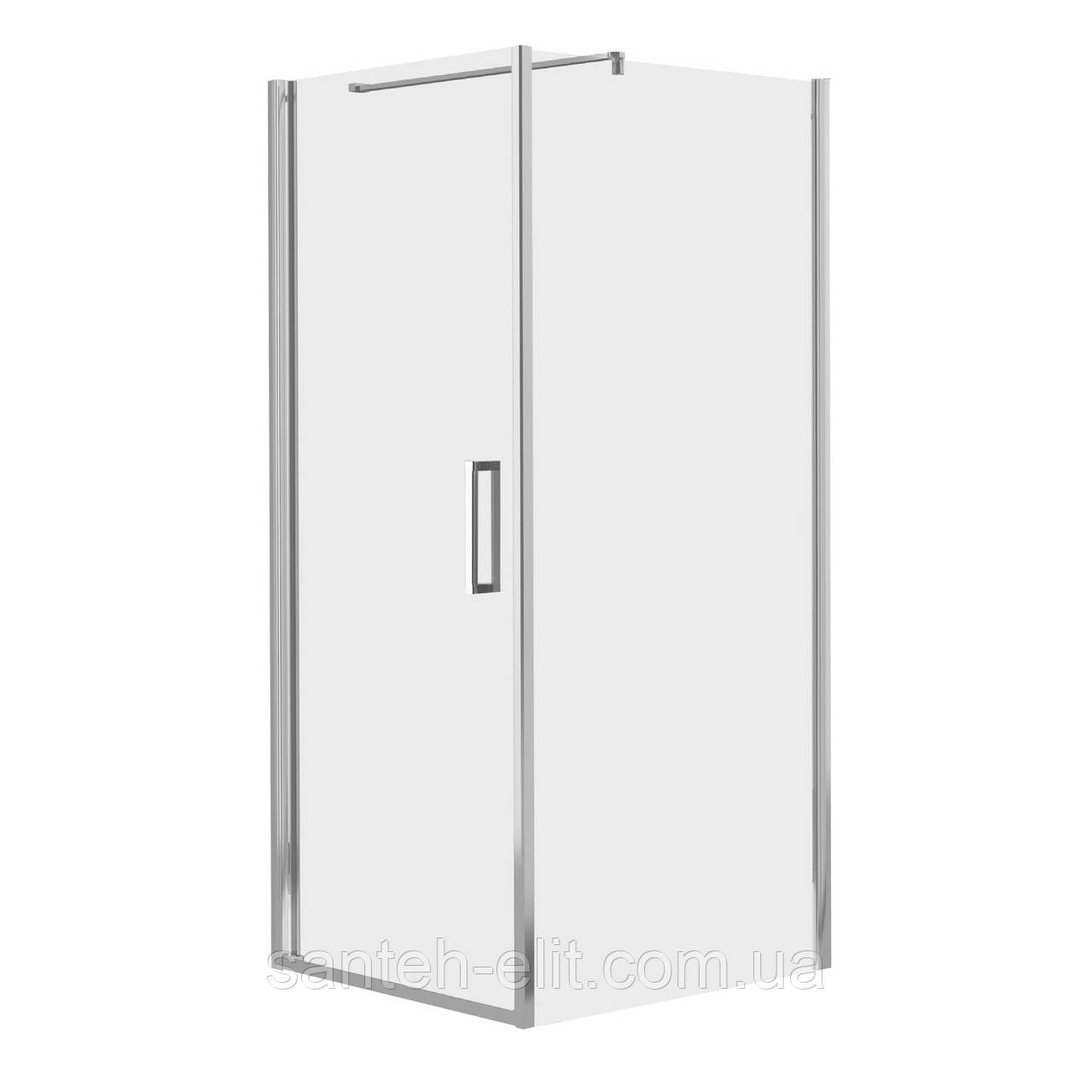 EGER RUDAS душевая кабина 90*90*200 см, квадратная, распашная, левая(стекла+двери)
