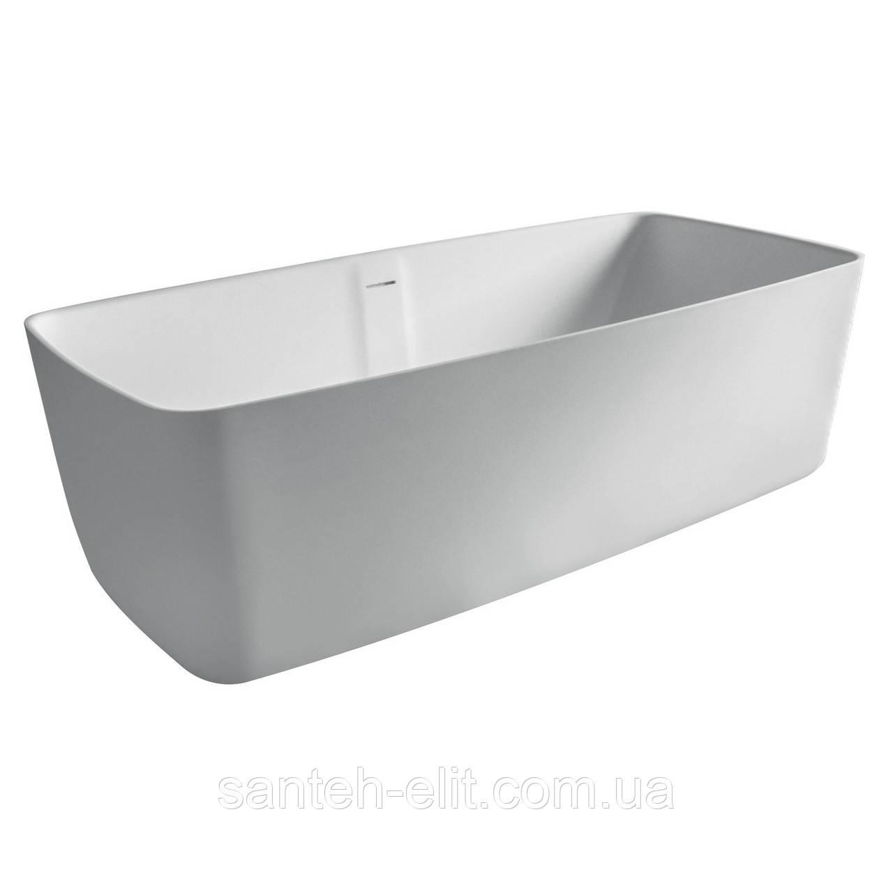 Ванна 168*80*53см отдельностоящая каменная Solid surface