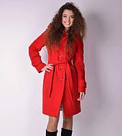 Пальто демисезонное женское с капюшоном красное. Размеры: 42-54. Цвета: разные