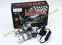 Светодиодные LED лампы-Линзы цоколь Н4 мощность 28w/ питание 12-24v/ Bi-LED Мини линзы в оптику авто