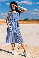 """Річний модний жіночий сарафан """"Марлен"""", джинс"""
