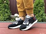 Жіночі кросівки Adidas Nite Jogger Boost 3M (чорно-білі з сірим) 9440, фото 3