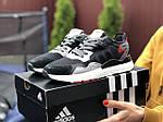 Жіночі кросівки Adidas Nite Jogger Boost 3M (чорно-білі з сірим) 9440, фото 4