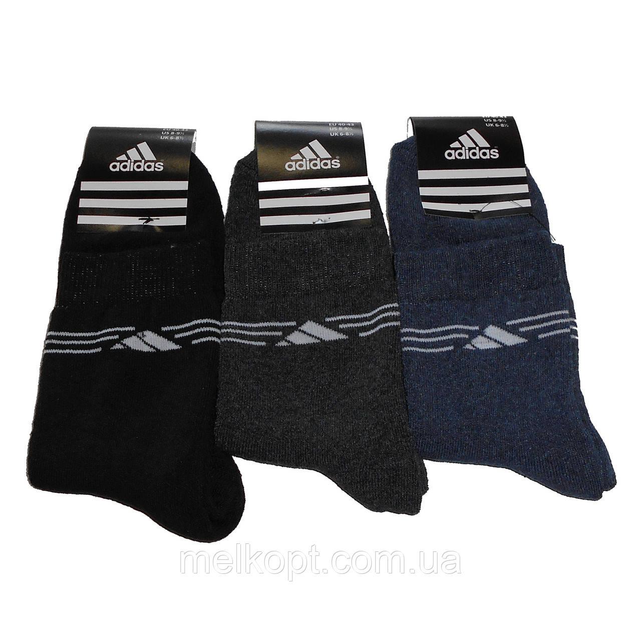 Мужские махровые носки с надписью Adidas - 12,00 грн./пара