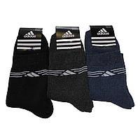 Мужские махровые носки с надписью Adidas - 12,00 грн./пара, фото 1