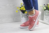 Женские кроссовки в стиле Converse, розовые 36(23,2 см), размеры:36,38