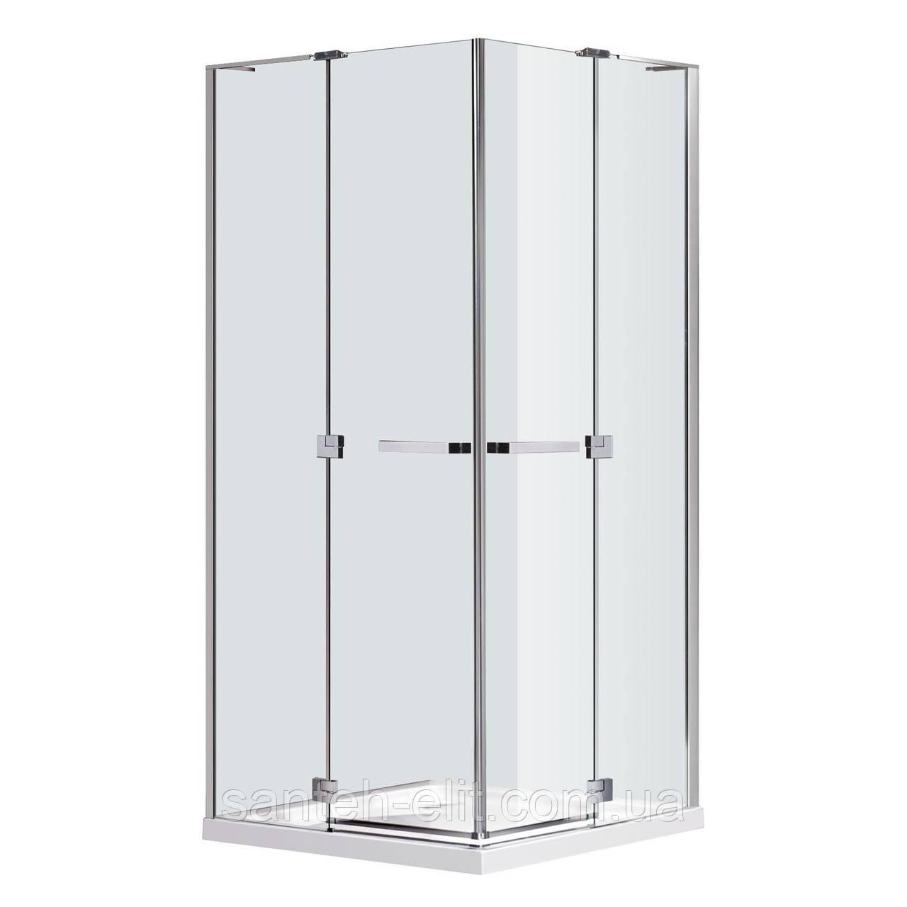 Eger RUBIK душевая кабина 90x90 квадратная, распашные двери, стекло прозрачное 8мм (599-333/1)