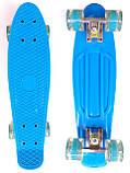 Скейт Penny Board, с широкими светящимися колесами Пенни борд, детский , от 4 лет, Цвет Голубой, фото 2