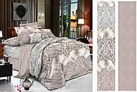 Двуспальный комплект постельного белья евро 200*220 сатин (12433) TM КРИСПОЛ Украина