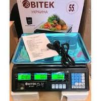 Весы электронные торговые BITEK 55кг аккумулятор 6В YZ-208