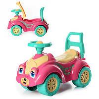 Детская каталка-толокар ТехноК 0823 прогулочный автомобиль Кошечка