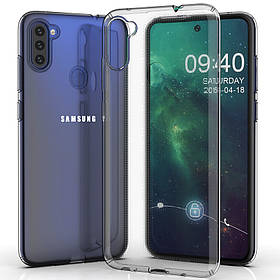 TPU чехол GETMAN Transparent 1,0 mm для Samsung Galaxy A11 / M11