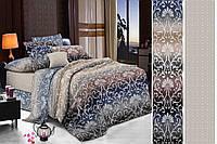 Двуспальный комплект постельного белья евро 200*220 сатин (12434) TM КРИСПОЛ Украина