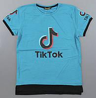 Футболка для мальчиков Tik Tok оптом, 140-176 рр. Артикул: 7124-бирюза