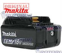 Аккумулятор шуруповерта Makita 18 V BL1860B 6,0 А/ч Li-Ion BDF453, BHP453
