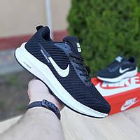 Мужские кроссовки в стиле Nike Flyknit Lunar 3, текстиль, черные с белым, 41р(26 см), в наличии:41,44,45