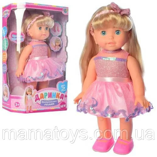 Интерактивная кукла Даринка M 4279 UA Ходит, Рост 33 см, музыка, звук украинский, песня, на бат,