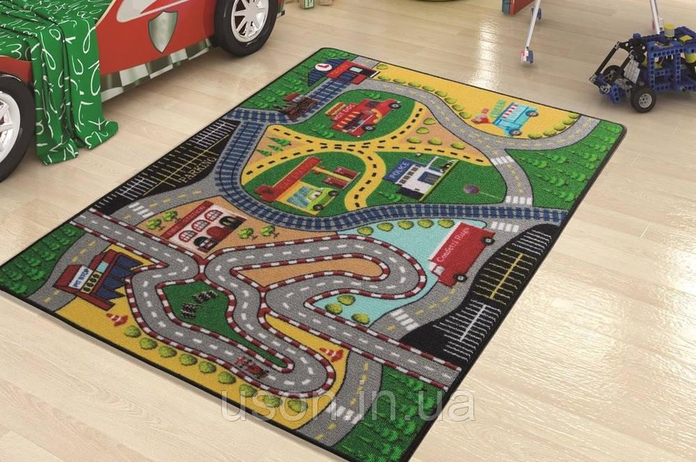 Напольный коврик в детскую комнату Confetti 100*150 Freeway зеленый