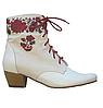 Этно-обувь, ботинки женские из конопли «Молодычка» ручная вышивка