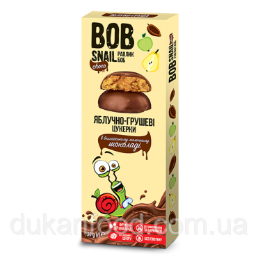 Конфеты Яблочно-Грушевые в бельгийском молочном шоколаде, 30 г