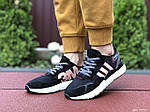 Женские кроссовки Adidas Nite Jogger Boost 3M (черно-белые с пудрой) 9446, фото 2