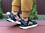 Женские кроссовки Adidas Nite Jogger Boost 3M (черно-белые с пудрой) 9446, фото 4