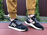 Женские кроссовки Adidas Nite Jogger Boost 3M (черно-белые с пудрой) 9446, фото 3