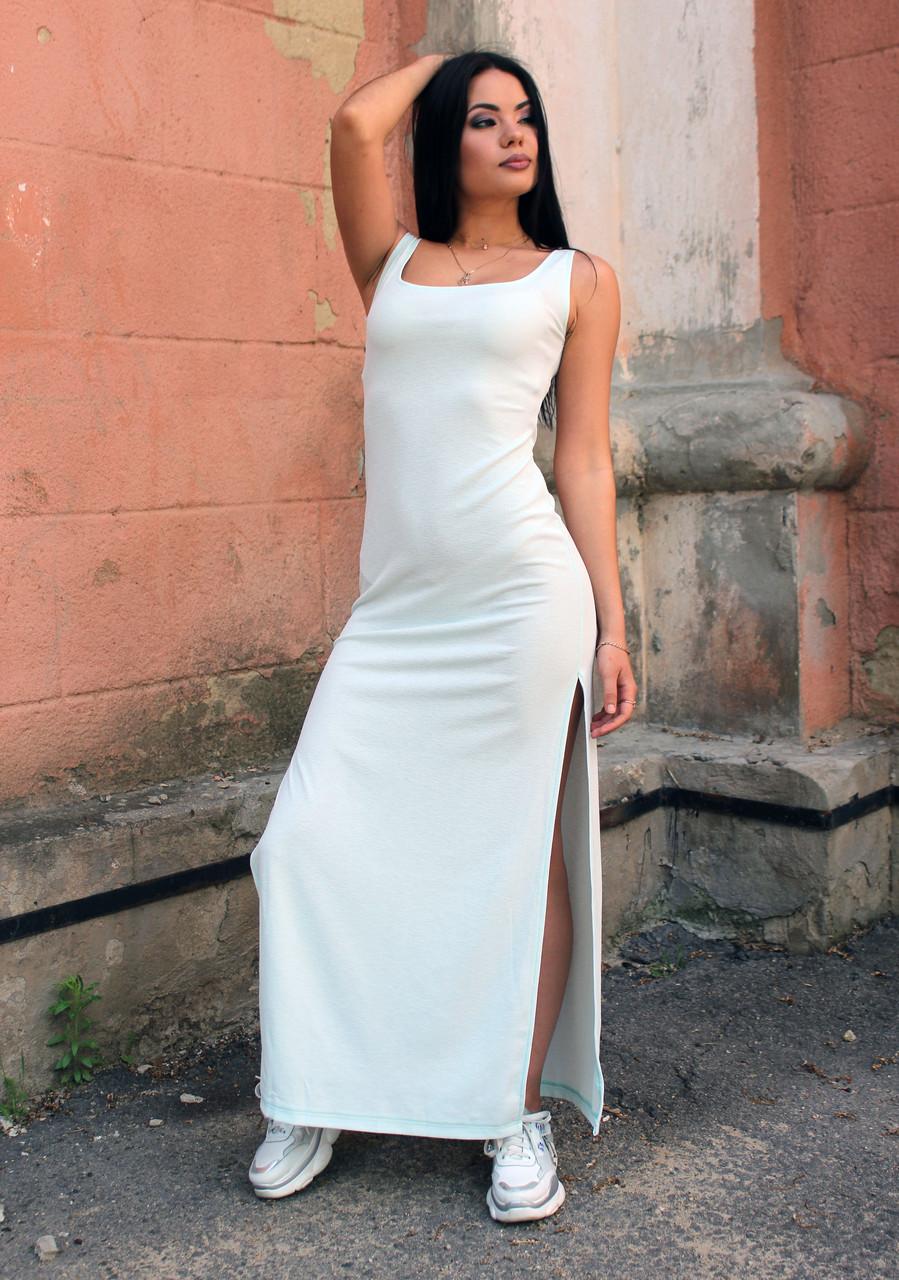 Женское летнее платье в разрезами по бокам