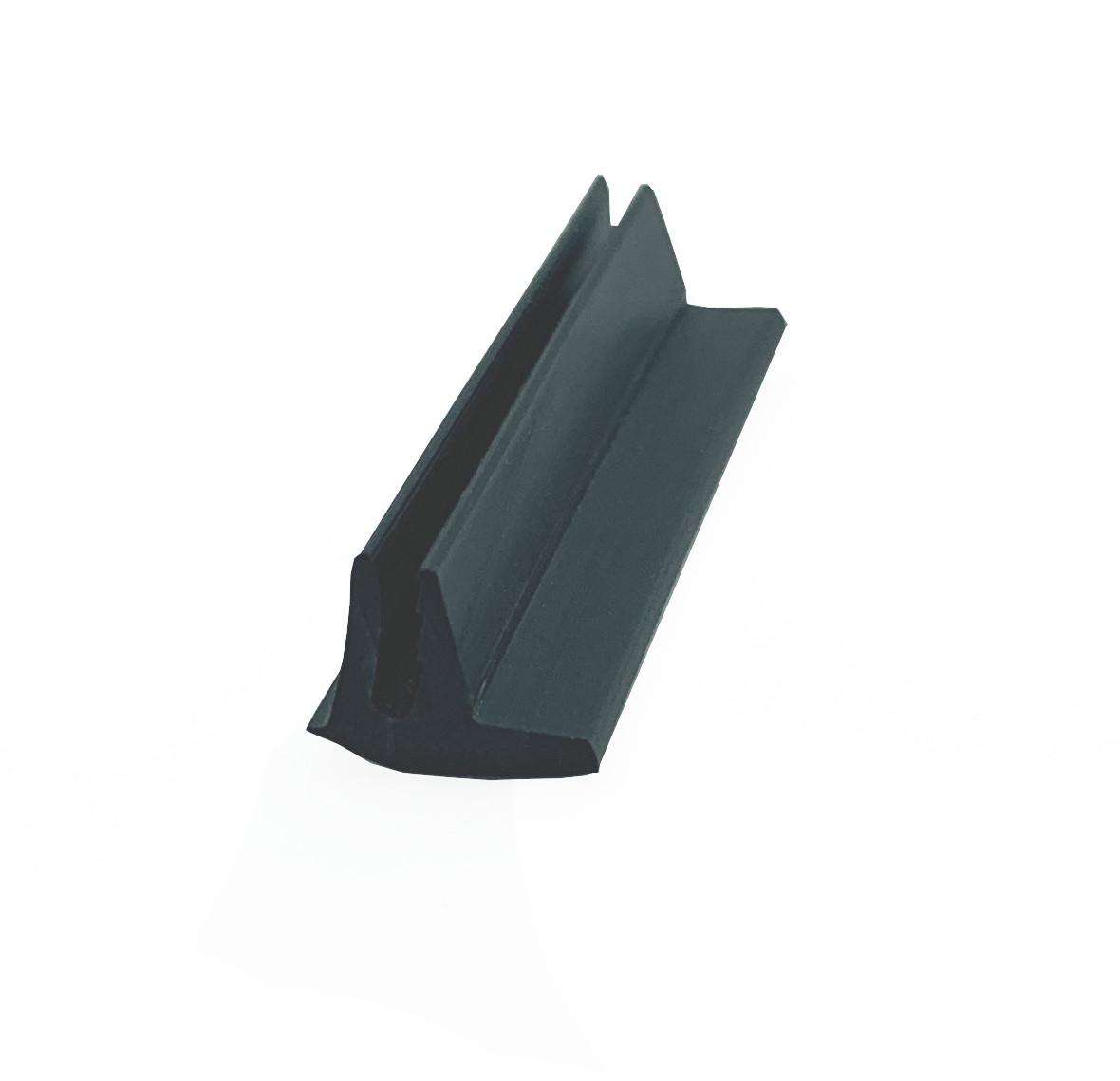 Вставка декоративна для натяжної стелі Вузька, чорна А1 (ширина 9 мм, матова, 2 зуба)