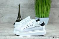 Женские кроссовки в стиле Guess, кожа, белые 40(26 см), последний размер