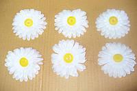 Головка ромашки белой хлопок-искусственных цветов, фото 1