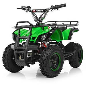 Быстрый квадроцикл для подростков ProfiHB-EATV800N-5(MP3) V3 зеленый