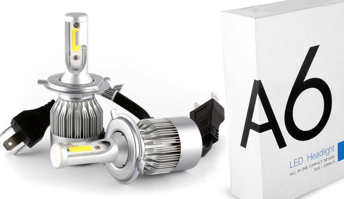 Лампа LED Н4 12/24 36W (2 шт)  (3800Лм) 6000К  ZOLLEX, 32953